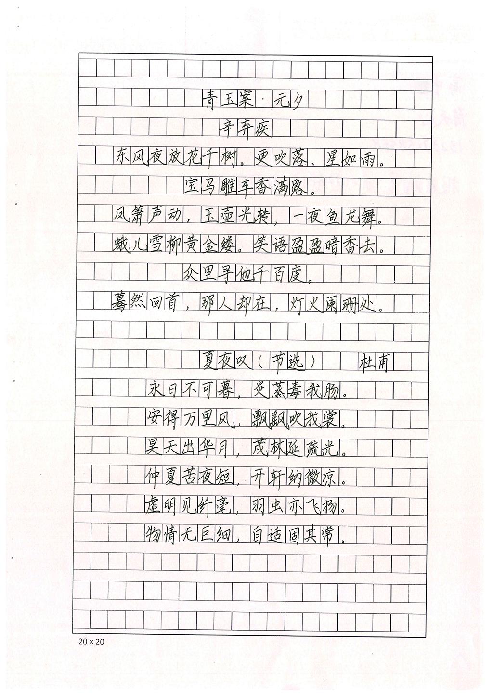 陈天心 中学组 三等奖