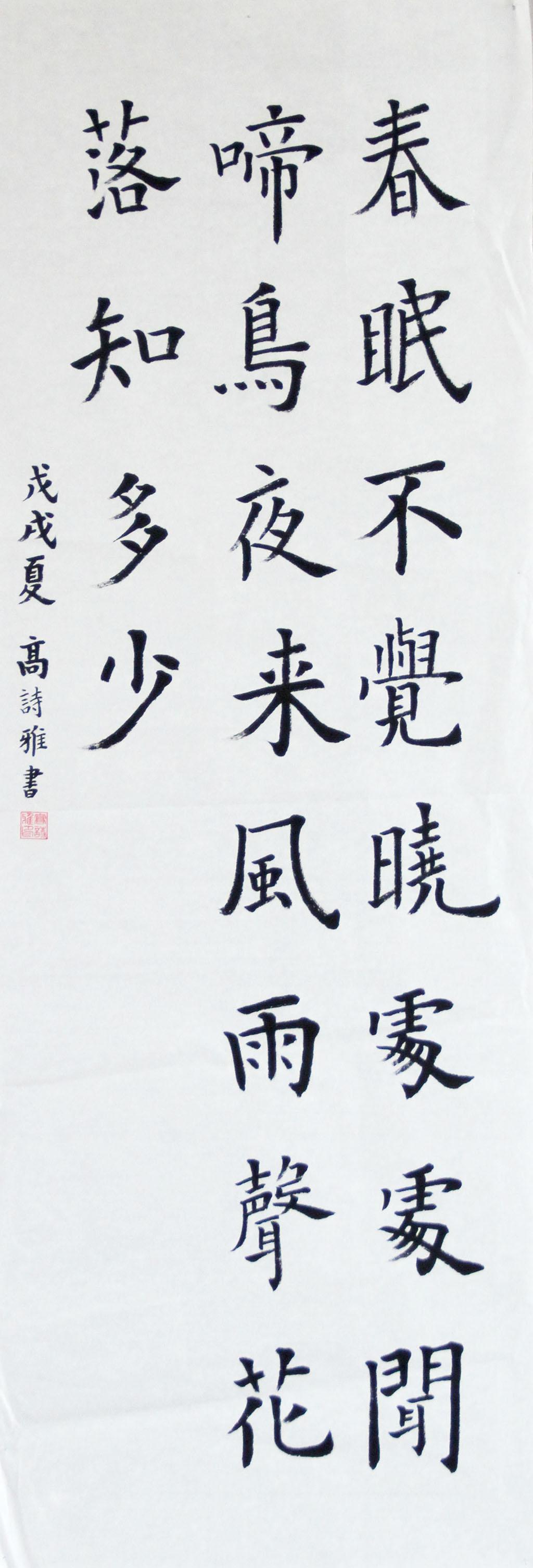 高诗雅 小学高年级组三等奖